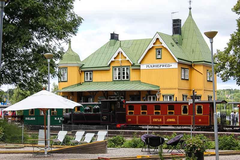 Bahnhof Mariefred.