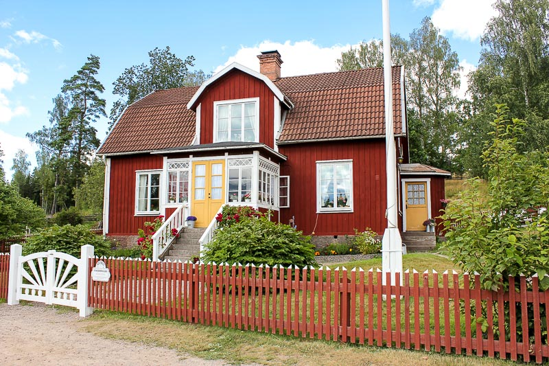 Das Wohnhaus auf dem Katthult-Hof