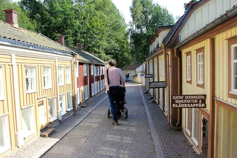 Straße in Vimmerby Astrid-Lindgrens-Welt