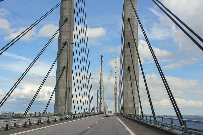 oeresundbrücke auf der Fahrt nach Malmö