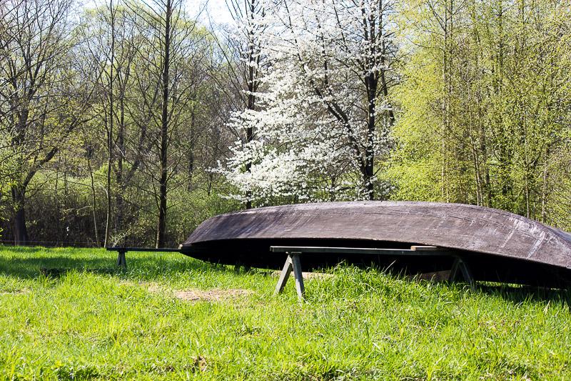 Holzkahn im Spreewald.