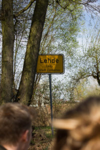 Ortseingangsschild Lehde im Spreewald.