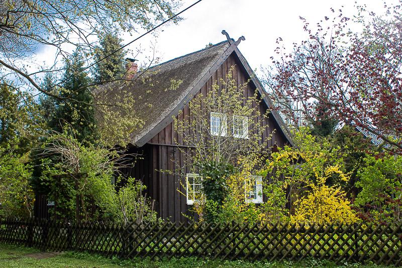 Typisches Holzhaus im Spreewald.