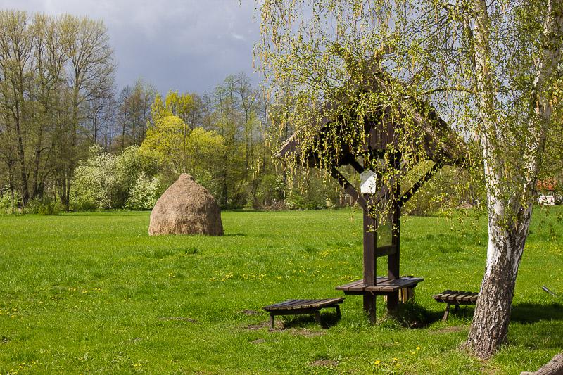 Heuschober im Spreewald.