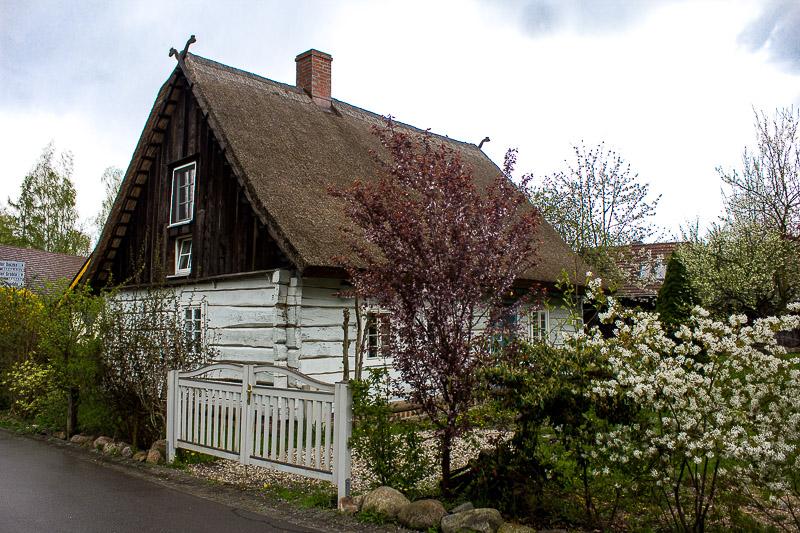Haus aus Holz in Lehde Spreewald.