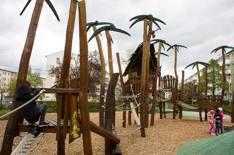 Spielplatz in Lübbenau- Spreewald