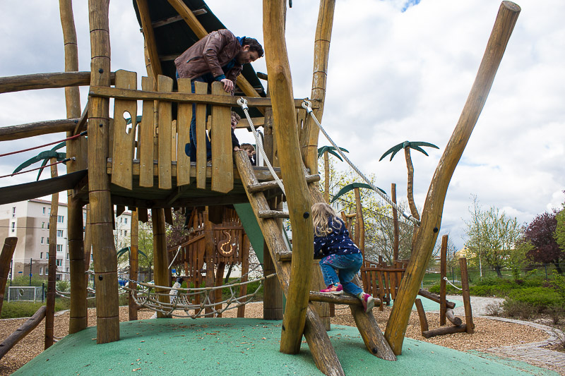 Spielplatz in Luebbenau- Spreewald.