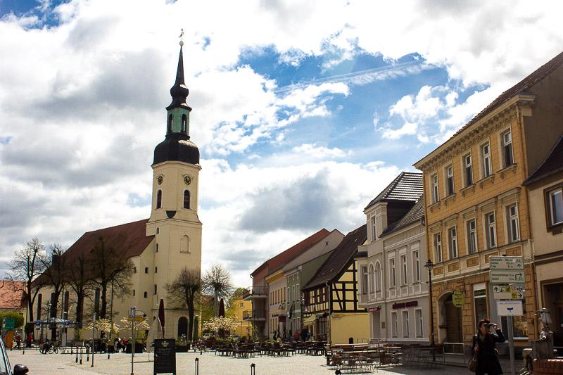 Luebbenauer Kirche auf dem Marktplatz