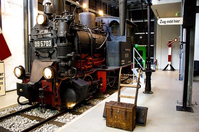 Spreewaldbahn im Spreewald-Museum in Luebbenau.