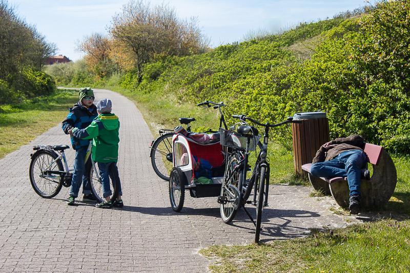Radfahren im Kurzurlaub auf Wangerooge.