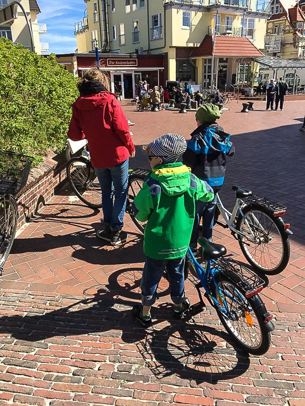 Das Fahrrad ist Hauptverkehrsmittel auf Wangerooge.