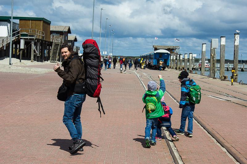 Am Fährhafen Wangerooge.