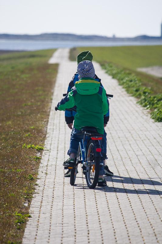 Auf dem Deich auf Insel Wangerooge.