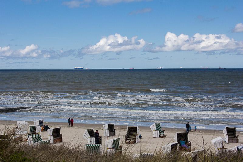 Nordsee und Insel Wangerooge.