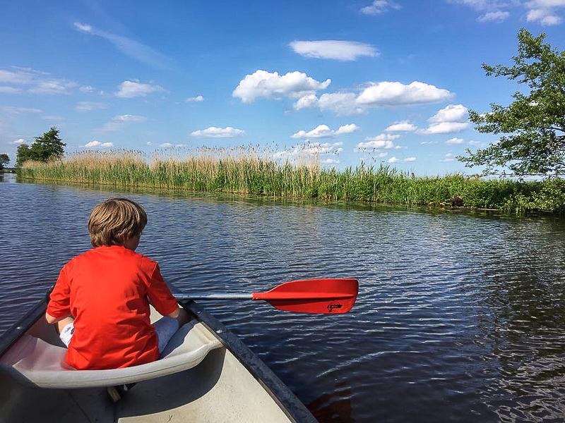 Mit dem Kanu auf der Hamme.