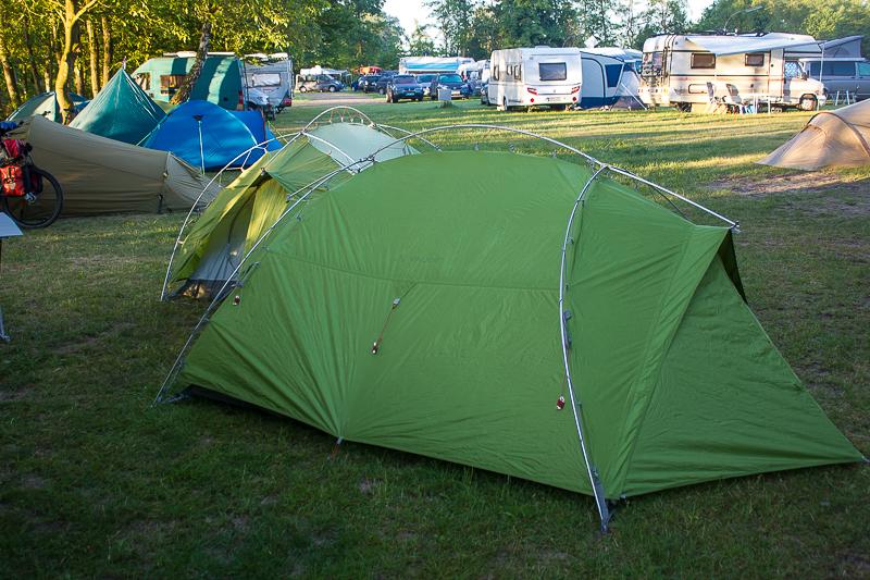 Zelten auf Campingplatz Worpswede.