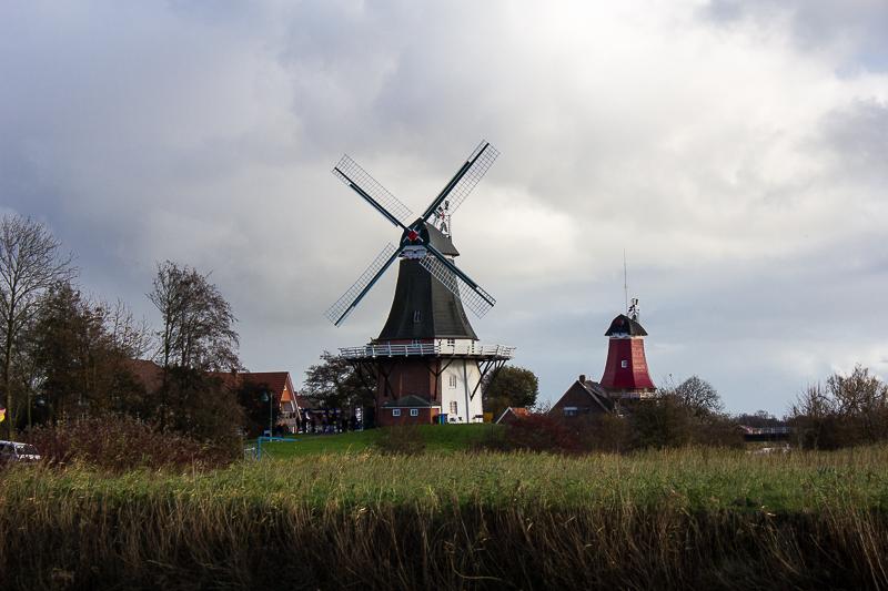 Zwillingsmühlen in Greetsiel.