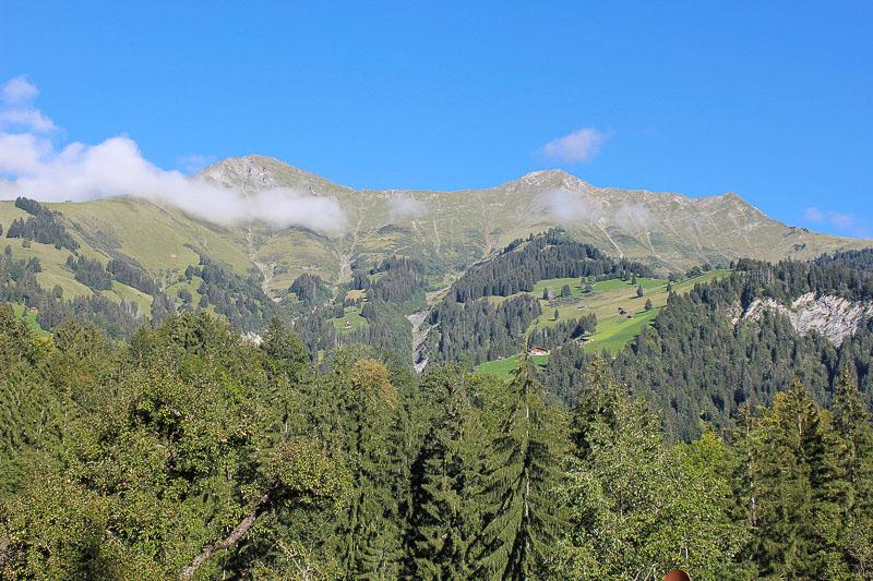 Ausblick auf die Berge vom Campingplatz Grassi.