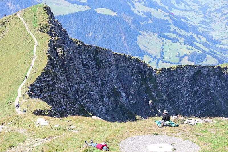 Wanderwege zum Niesen im Berner Oberland in der Schweiz.