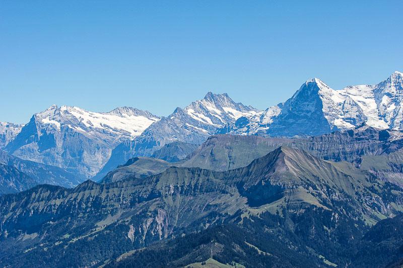 Der Eiger mit der Eiger-Nordwand im Berner Oberland in der Schweiz.