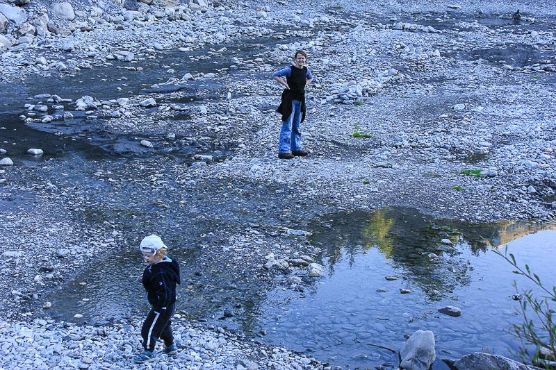 Flussbett Enstliege in Frutigen Schweiz.