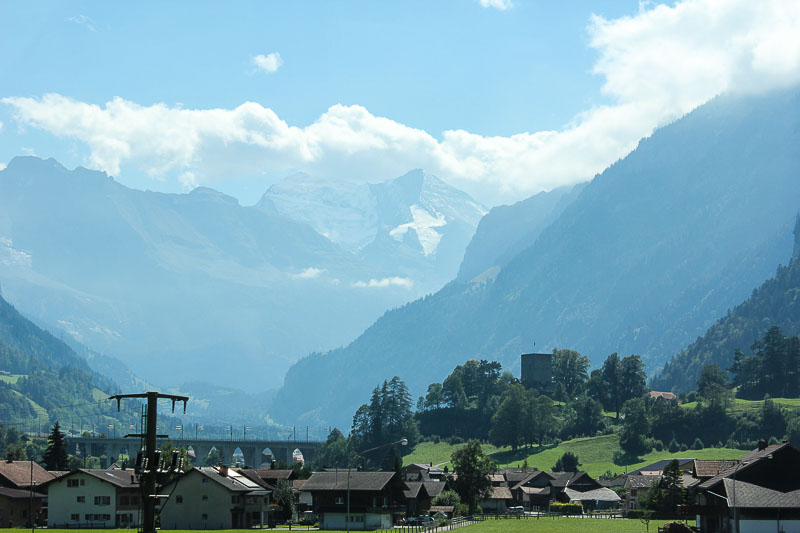 Kandertal bei Frutigen im Berner Oberland Schweiz.