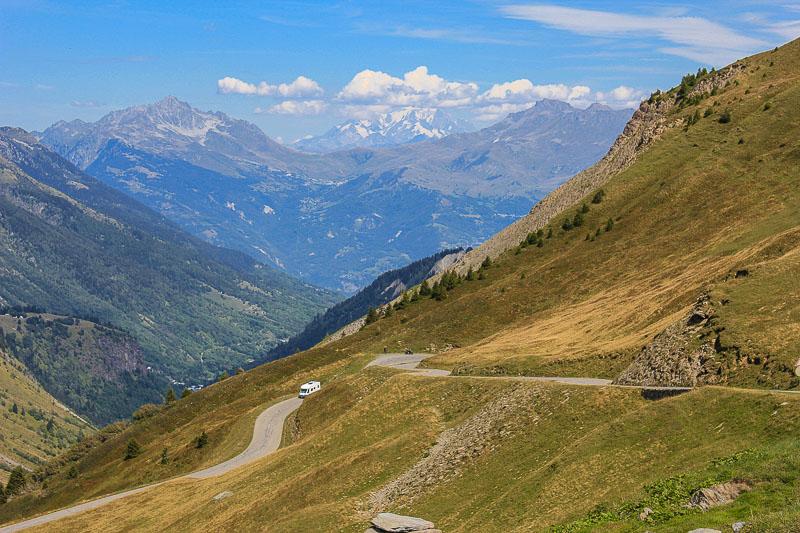 Blick auf Mont Blanc Franzoesische Alpen