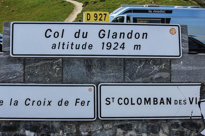 Auf dem Weg nach Suedfrankreich durch die Alpen. Pass Col du Glendon