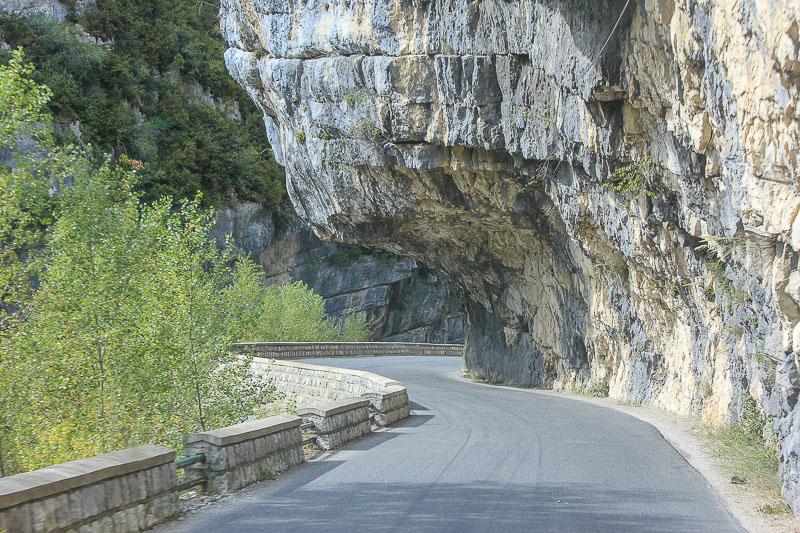 Nationalstrasse entlang des Verdons