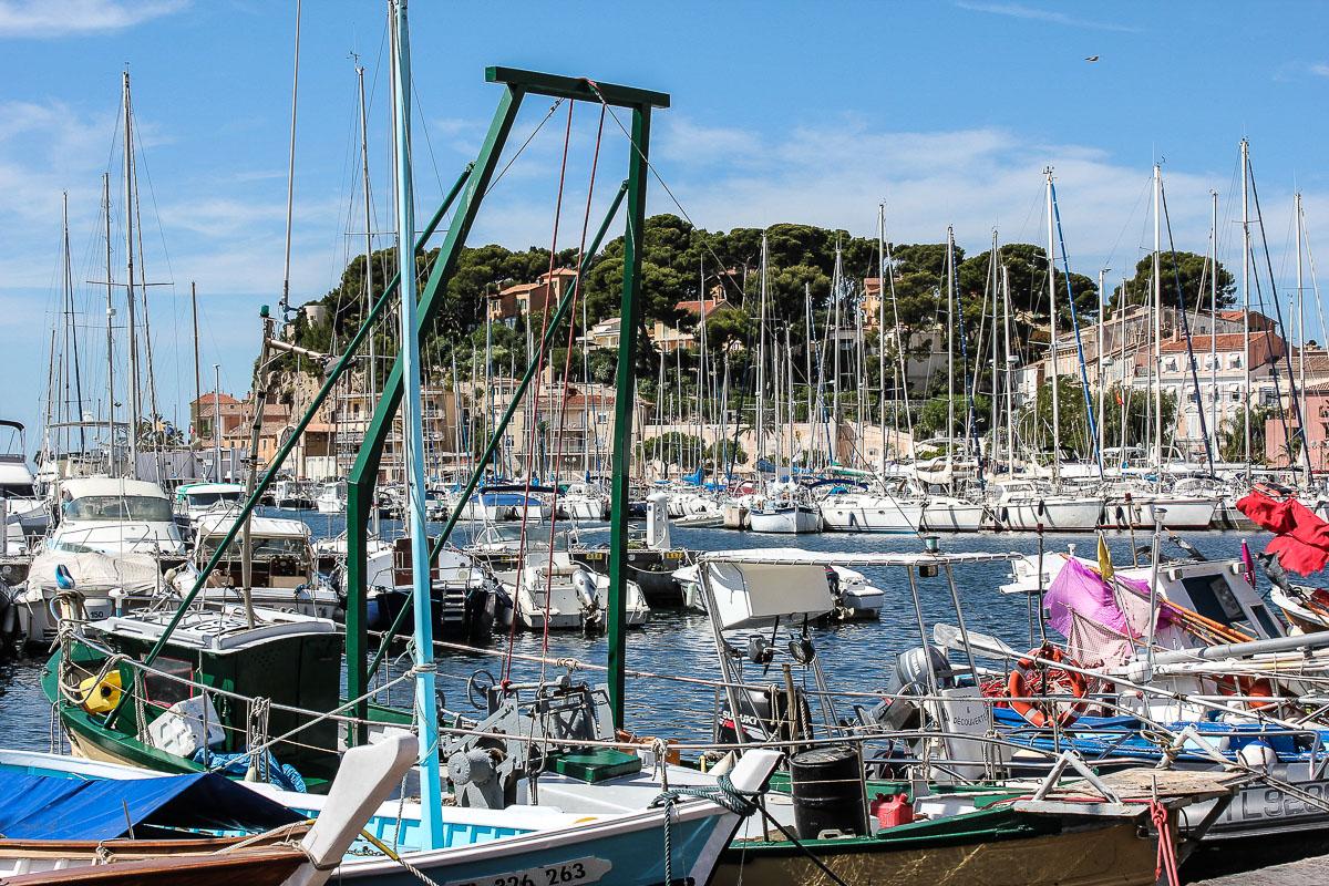 Hafen von Sanary sur mer.