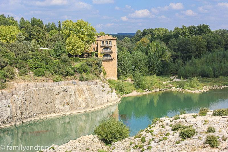 Blick vom Pont du Gard.