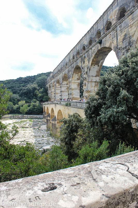 Pont du Gard in der Provence in Frankreich.