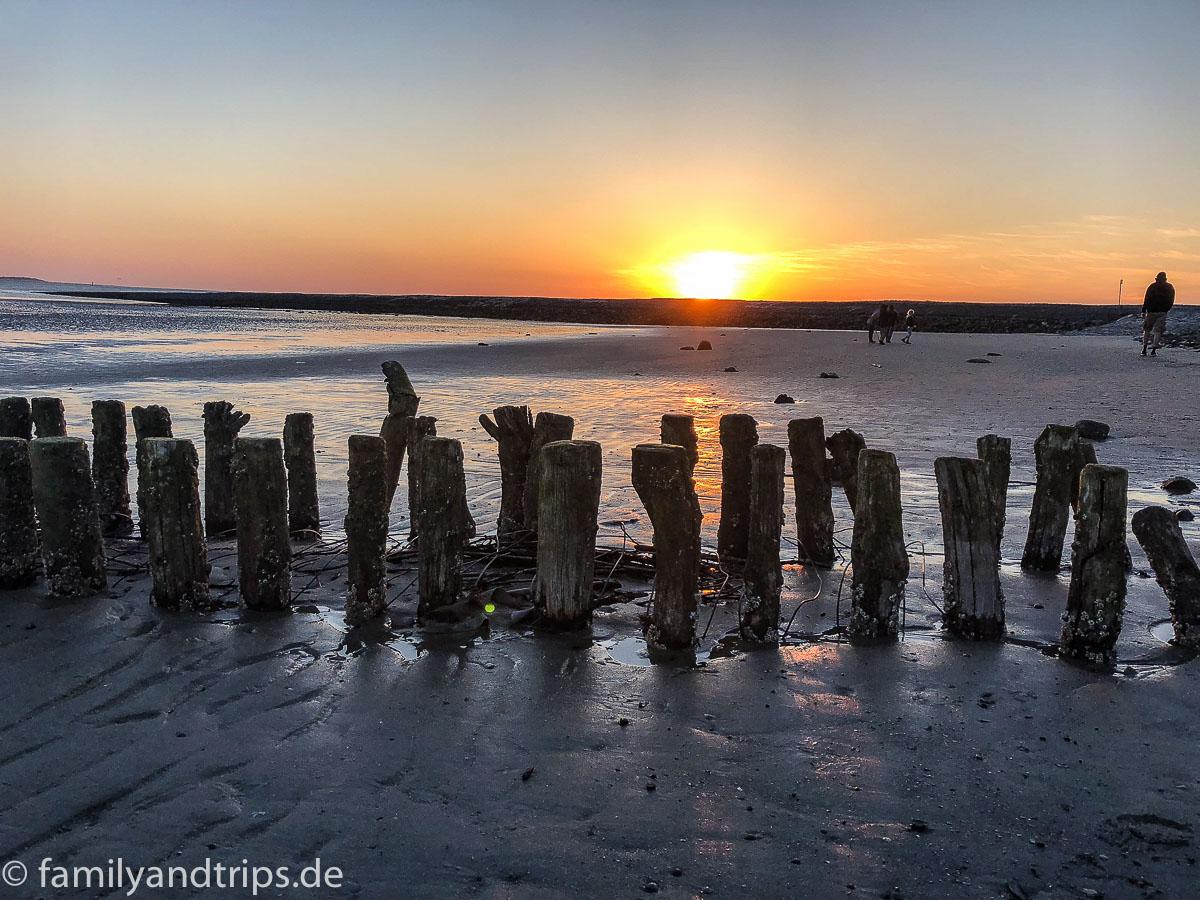 Sonnenuntergang Strand Spiekeroog.
