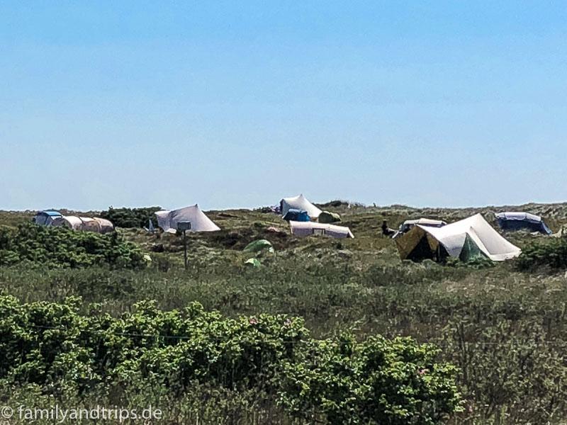 Campingplatz auf Spiekeroog.