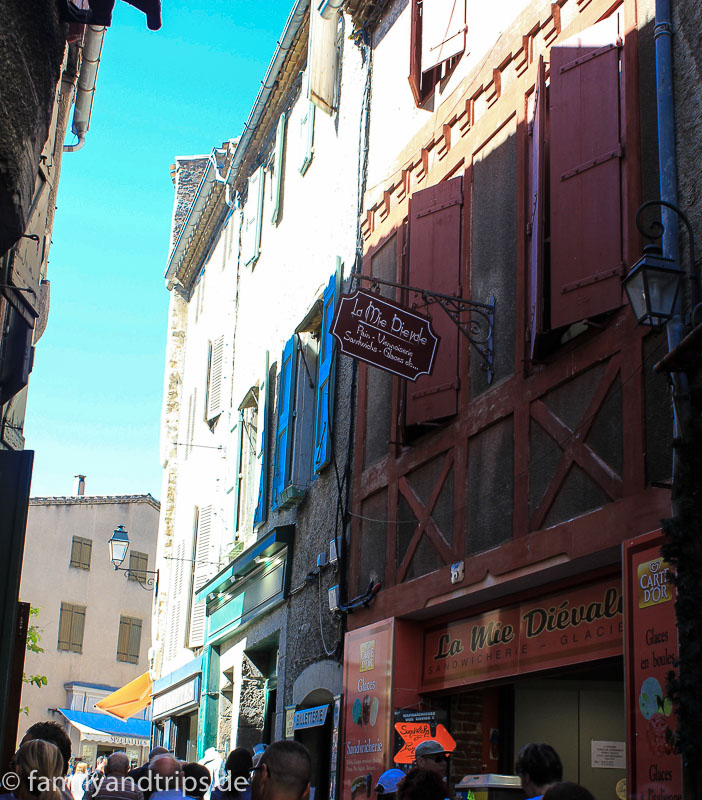 Gasse in Carcassonne.